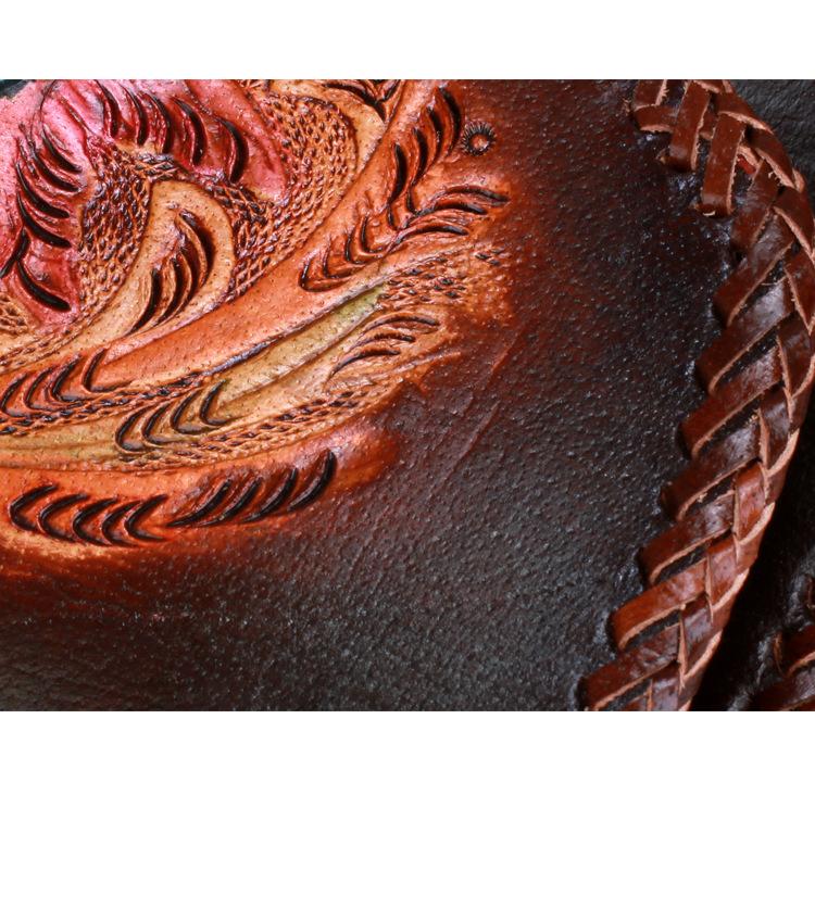 Handmade leather carving messenger harley backpack makkashop