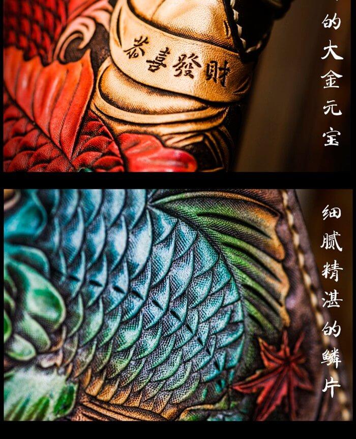 Anew 2017061115 handmade custom biker wallet fortune lucky for Lucky koi fish