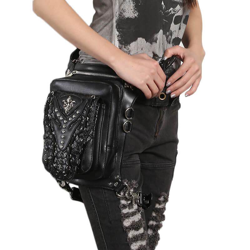 Steampunk Waist Leg Hip Holster Bags M